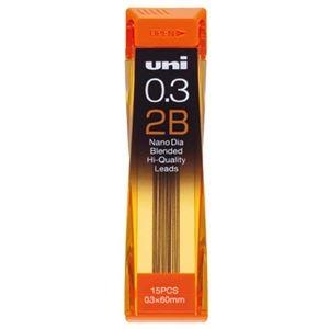 その他 (まとめ) 三菱鉛筆 シャープ SHARP替芯 ユニ ナノダイヤ 0.3mm 2B U03202ND2B 1個(15本) 【×50セット】 ds-2242341