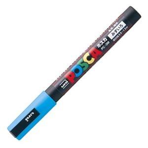 その他 (まとめ) 三菱鉛筆 水性マーカー ポスカ 細字丸芯 水色 PC3M.8 1本 【×50セット】 ds-2242398
