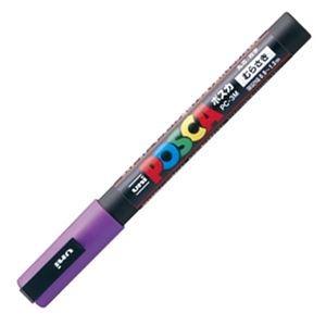 その他 (まとめ) 三菱鉛筆 水性マーカー ポスカ 細字丸芯 紫 PC3M.12 1本 【×50セット】 ds-2242399