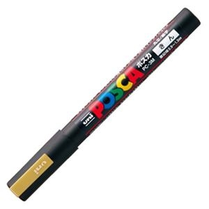 その他 (まとめ) 三菱鉛筆 水性マーカー ポスカ 細字丸芯 金 PC3M.25 1本 【×50セット】 ds-2242402
