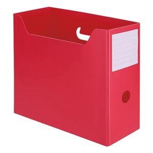 その他 (まとめ) TANOSEEPP製ボックスファイル(組み立て式) A4ヨコ レッド 1個 【×50セット】 ds-2242520