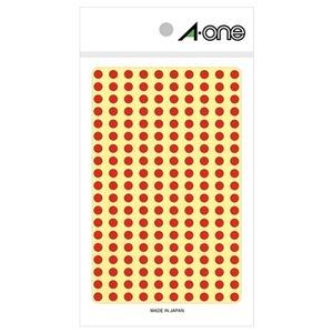 その他 (まとめ) エーワン カラーラベル 丸型 直径5mm赤 07061 1パック(1800片:200片×9シート) 【×50セット】 ds-2242817