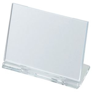 その他 (まとめ) 光 カード立て 可動式 W100×H65mm 透明 UC1-1 1個 【×50セット】 ds-2242844