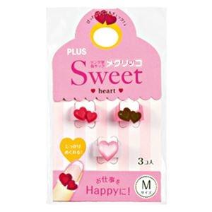 その他 (まとめ) プラス メクリッコ Sweet ハート1M チョコ・レッド・パールローズ KM-302SA-3 1袋(3個:各色1個) 【×50セット】 ds-2242868