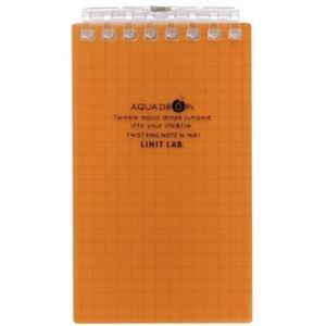その他 (まとめ) リヒトラブ AQUA DROPsツイストノート(メモサイズ) 125×72mm 8穴 5mm方眼罫 橙 40枚 N-1661-4 1冊 【×50セット】 ds-2243221