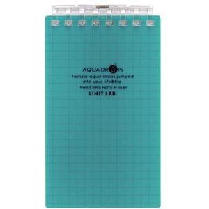 その他 (まとめ) リヒトラブ AQUA DROPsツイストノート(メモサイズ) 125×72mm 8穴 5mm方眼罫 青緑 40枚 N-1661-28 1冊 【×50セット】 ds-2243228