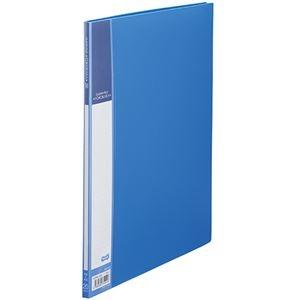 その他 (まとめ) TANOSEE書類が入れやすいクリヤーファイル「ヨコカラ」 A4タテ 20ポケット 背幅8mm ブルー 1冊 【×50セット】 ds-2243354