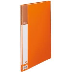 その他 (まとめ) TANOSEE書類が入れやすいクリヤーファイル「ヨコカラ」 A4タテ 20ポケット 背幅8mm オレンジ 1冊 【×50セット】 ds-2243357