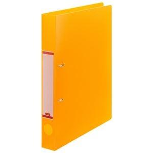 その他 (まとめ) TANOSEEDリングファイル(半透明表紙) A4タテ 2穴 200枚収容 背幅38mm オレンジ 1冊 【×50セット】 ds-2243507