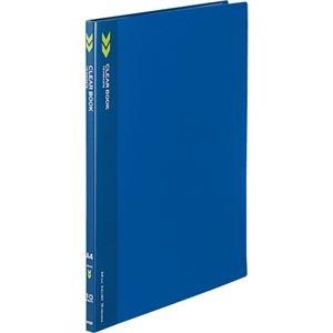 その他 (まとめ) コクヨ クリヤーブック(クリアブック)(K2)固定式 A4タテ 10ポケット 背幅11mm 中紙なし 青 K2ラ-K10B 1冊 【×50セット】 ds-2243594
