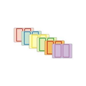その他 (まとめ) ライオン事務器 インデックスラベル23×29mm 6色詰め合わせ CAM1 1パック(72片:12片×各色1シート) 【×50セット】 ds-2243931