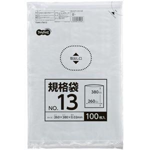 その他 (まとめ) TANOSEE 規格袋 13号0.02×260×380mm 1パック(100枚) 【×50セット】 ds-2244182