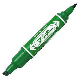 その他 (まとめ) ゼブラ 油性マーカー ハイマッキー角芯太字+丸芯細字 緑 MO-150-MC-G 1本 【×100セット】 ds-2244504