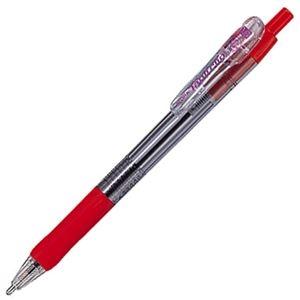 その他 (まとめ) ゼブラ 油性ボールペン タプリクリップ 1.6mm 赤 BNU5-R 1本 【×100セット】 ds-2245062