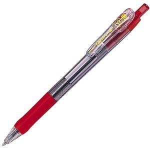 その他 (まとめ) ゼブラ 油性ボールペン タプリクリップ 1.0mm 赤 BNB5-R 1本 【×100セット】 ds-2245065
