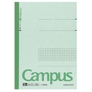 その他 (まとめ) コクヨ キャンパスノート(特殊罫) セミB5 5mm方眼罫 30枚 ノ-13S5N 1冊 【×100セット】 ds-2245311