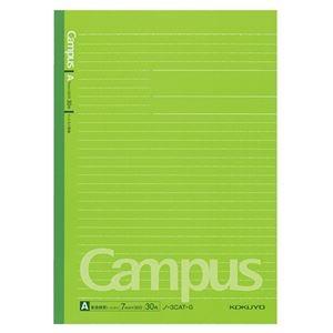 その他 (まとめ) コクヨ キャンパスノート(ドット入り罫線・カラー表紙) セミB5 A罫 30枚 緑 ノ-3CAT-G 1冊 【×100セット】 ds-2245312