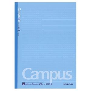 その他 (まとめ) コクヨキャンパスノート(ドット入り罫線・カラー表紙) セミB5 B罫 30枚 青 ノ-3CBT-B 1冊 【×100セット】 ds-2245337