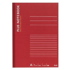 その他 (まとめ) プラス ノートブック セミB5A罫7mm 50枚 レッド NO-005AS 1冊 【×100セット】 ds-2245343