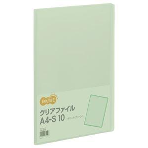 その他 (まとめ) TANOSEE クリアファイル A4タテ 10ポケット 背幅8mm グリーン 1冊 【×100セット】 ds-2245452