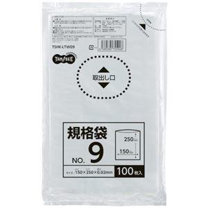 その他 (まとめ) TANOSEE 規格袋 9号0.02×150×250mm 1パック(100枚) 【×100セット】 ds-2245671