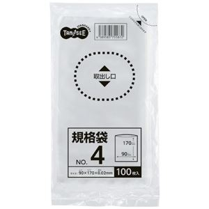 その他 (まとめ) TANOSEE 規格袋 4号0.02×90×170mm 1パック(100枚) 【×300セット】 ds-2245929