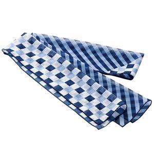その他 (まとめ) チクマ スカーフ ブルー NF168-1 1枚 【×5セット】 ds-2220246