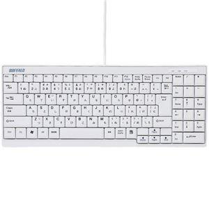 その他 (まとめ) バッファロー USB接続有線スリムキーボード ホワイト BSKBU14WH 1台 【×5セット】 ds-2220377