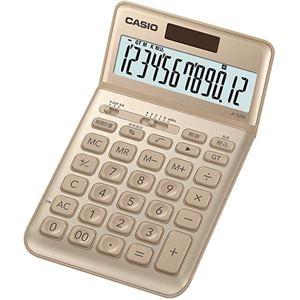 その他 (まとめ) カシオ デザイン電卓 12桁ジャストタイプ ゴールド JF-S200-GD-N 1台 【×5セット】 ds-2221127