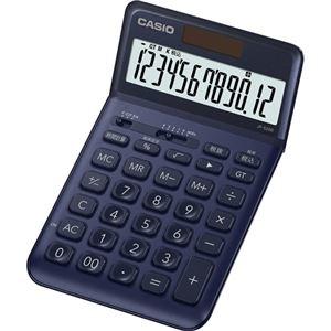 その他 (まとめ) カシオ デザイン電卓 12桁ジャストタイプ ネイビー JF-S200-NY-N 1台 【×5セット】 ds-2221128