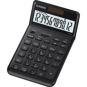 その他 (まとめ) カシオ デザイン電卓 12桁ジャストタイプ ブラック JF-S200-BK-N 1台 【×5セット】 ds-2221130