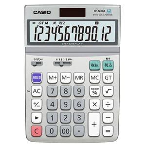 その他 (まとめ) カシオ CASIO エコマーク付電卓 12桁 デスクタイプ DF-120GT-N 1台 【×5セット】 ds-2221134