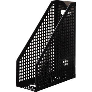 その他 (まとめ) TANOSEE メッシュボックスA4タテ 背幅103mm 黒 1セット(10個) 【×5セット】 ds-2221266