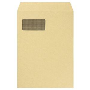 その他 (まとめ) TANOSEE A4窓付クラフト封筒テープのり付 裏地紋付 1パック(100枚) 【×5セット】 ds-2221308