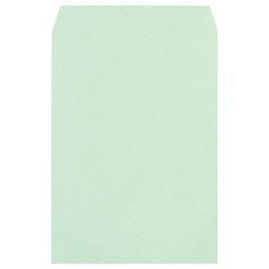 その他 (まとめ) ハート 透けないカラー封筒ワンタッチテープ付 角2 100g/m2 パステルグリーン XEP470 1パック(100枚) 【×5セット】 ds-2221349