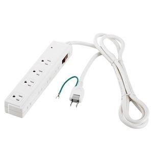その他 (まとめ) バッファロー 2/3ピン式電源タップ 4+4個口タイプ 雷サージ防止/集中スイッチ付 2m ホワイト BSTAPSDC820WH 1個 【×5セット】 ds-2222823