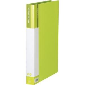 その他 (まとめ) TANOSEEクリヤーファイル(台紙入) A4タテ 60ポケット 背幅34mm ライトグリーン 1セット(6冊) 【×5セット】 ds-2223193