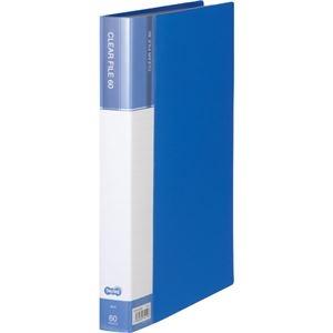その他 (まとめ) TANOSEEクリヤーファイル(台紙入) A4タテ 60ポケット 背幅34mm ブルー 1セット(6冊) 【×5セット】 ds-2223194