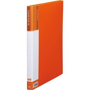 その他 (まとめ) TANOSEE クリヤーファイル(台紙入) A4タテ 40ポケット 背幅23mm オレンジ 1セット(8冊) 【×5セット】 ds-2223198
