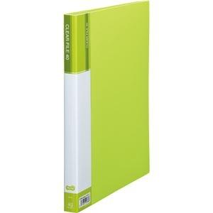 その他 (まとめ) TANOSEE クリヤーファイル(台紙入) A4タテ 40ポケット 背幅23mm ライトグリーン 1セット(8冊) 【×5セット】 ds-2223200