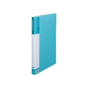 その他 (まとめ) TANOSEE クリヤーファイル(台紙入) A4タテ 40ポケット 背幅23mm ライトブルー 1セット(8冊) 【×5セット】 ds-2223201