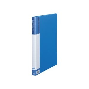 その他 (まとめ) TANOSEE クリヤーファイル(台紙入) A4タテ 40ポケット 背幅23mm ブルー 1セット(8冊) 【×5セット】 ds-2223203