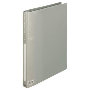 その他 (まとめ) TANOSEE リングクリヤーブック(クリアブック) A4タテ 30穴 10ポケット付属 背幅25mm グレー 1セット(10冊) 【×5セット】 ds-2223264