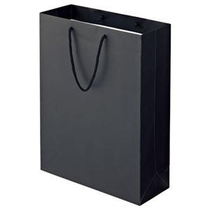 その他 (まとめ) TANOSEE マットコート手提げ袋 LL ヨコ380×タテ500×マチ幅150mm ブラック 1パック(10枚) 【×5セット】 ds-2223598