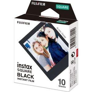その他 (まとめ) 富士フイルム インスタントカラーフィルムinstax SQUARE ブラック 1パック(10枚) 【×10セット】 ds-2223742