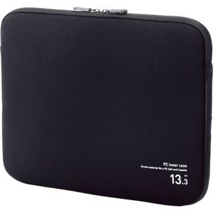 その他 (まとめ) エレコム ネオプレンPCインナーバッグ13.3インチノートPC対応 ブラック BM-IBNP13BK 1個 【×10セット】 ds-2223834