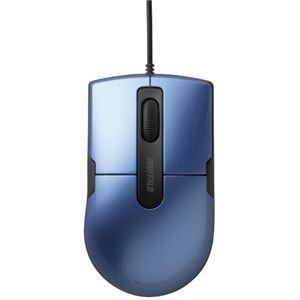 その他 (まとめ) バッファロー 有線BlueLEDマウス静音 3ボタン Mサイズ ブルー BSMBU26SMBL 1個 【×10セット】 ds-2223932