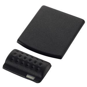 その他 (まとめ) エレコム マウスパッド&リストレスト COMFY ブラック MP-114BK 1枚 【×10セット】 ds-2223987