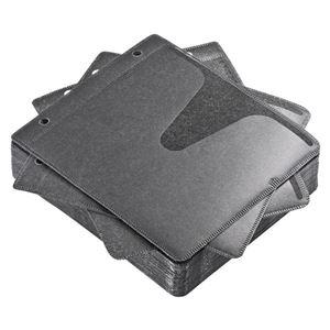 その他 (まとめ) サンワサプライブルーレイディスク対応不織布ケース リング穴付 ブラック FCD-FRBD50BK 1パック(50枚) 【×10セット】 ds-2224411