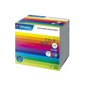 その他 (まとめ) バーベイタム データ用CD-R 700MB ホワイトワイドプリンターブル 5mmスリムケース SR80SP20V1 1パック(20枚) 【×10セット】 ds-2224670